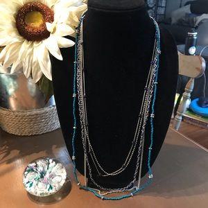 Lia Sophia Multi Strand Long Necklace
